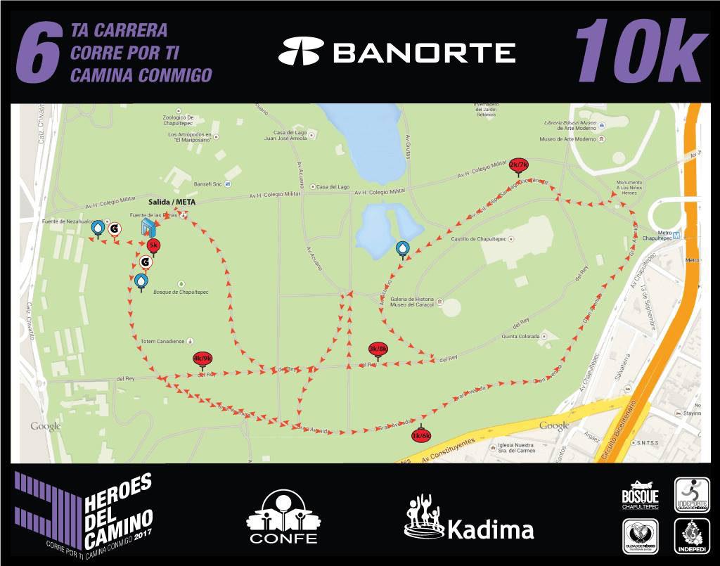 Ruta de la carrera 10 Km