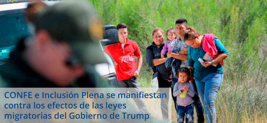 Plena Inclusión y CONFE se manifiestan contra las medidas inmigratorias del gobierno de Trump